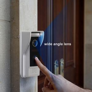 Image 3 - HomeFong חזותי אינטרקום 10 אינץ וידאו פעמון מערכת עם מקורה LCD צג חיצוני וידאו מצלמה פעמון Wired בית אינטרקום