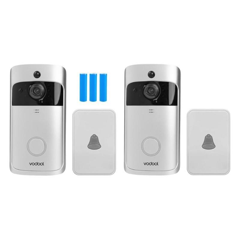 Vodool V5 Smart WiFi Video Doorbell Camera 720p Visual Call Intercom Alarm Door Bell Remote Monitoring With 3*18650 Battery New