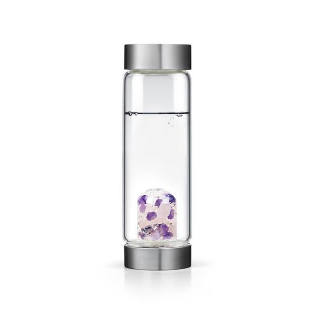 Soffe – bouteille d'eau en cristal naturel, 600ml, avec couvercle, sans Bpa, avec pierres précieuses 2