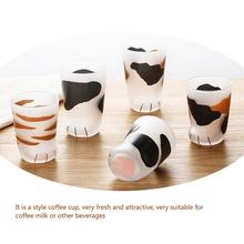201~300 Ml Creative Cat Foot Cup Cute Delicate Matte Process Heat Resistant Glass Gift