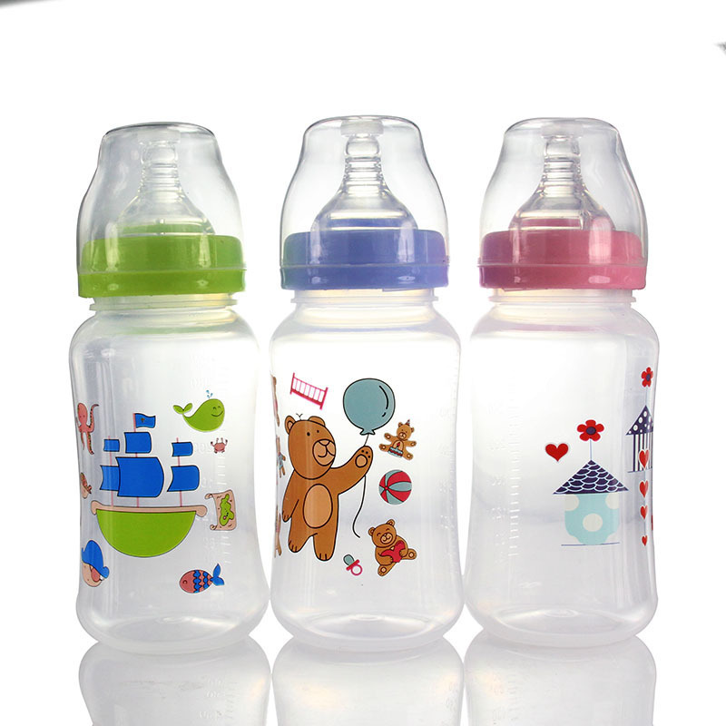Feeding Bottle Foreign Trade Widemouthed Special-purpose Feeding Bottle Defence Flatulence Pp Feeding Bottle 320ml