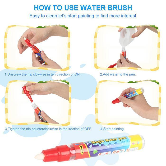 Magic Water Drawing Book Coloring Book Doodle & Magic Pen Painting Drawing Board For Kids Toys Birthday Gift