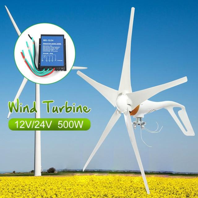 2018 12 В/24 В 500 Вт 5 лопастей ветряные турбины генератор энергии AC миниатюрные ветряные турбины жилой дом с внешним контроллером