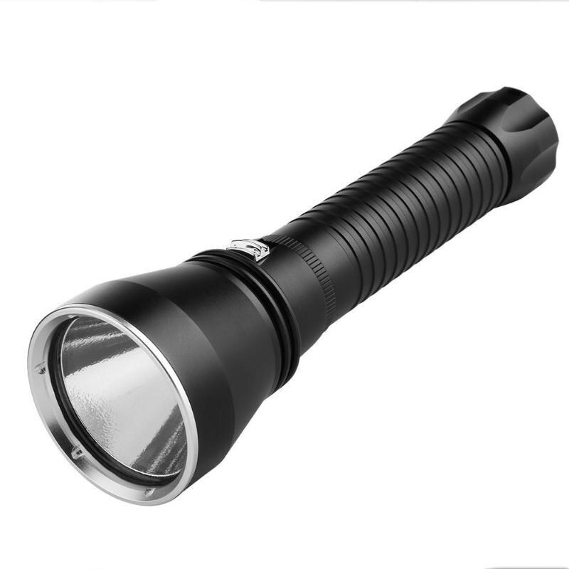 2.0 lampe de poche étanche LED 4000LM plongée lampe de poche sous-marine lumière torche outils d'extérieur
