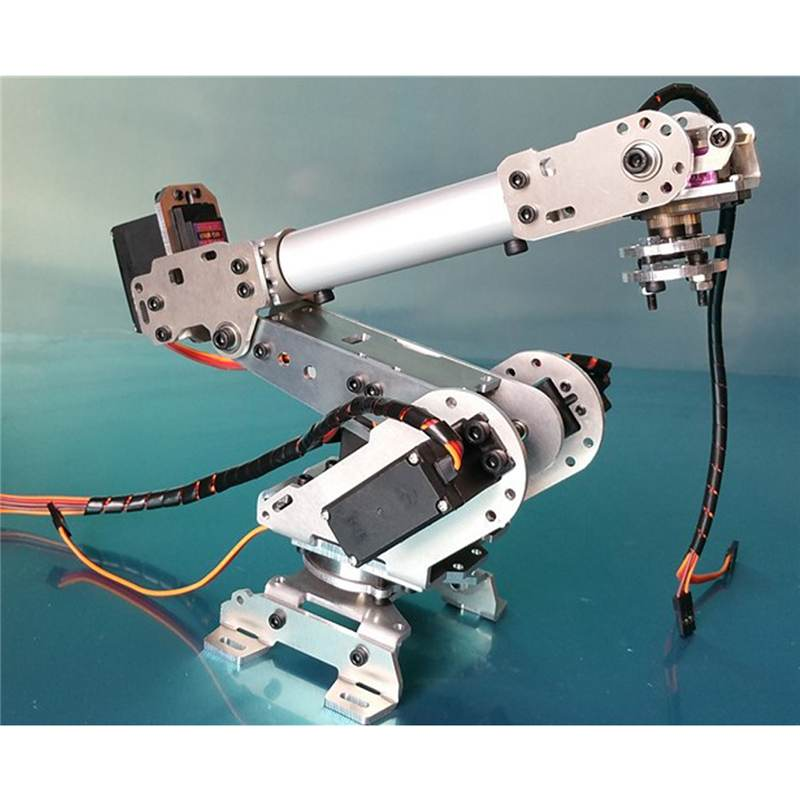 New Arrivals 6DOF Mechanical Robot Full Steel Bearing Arm Claw With Servos For Robotics DIY Children 39 s Toy Robot Arm in Action amp Toy Figures from Toys amp Hobbies
