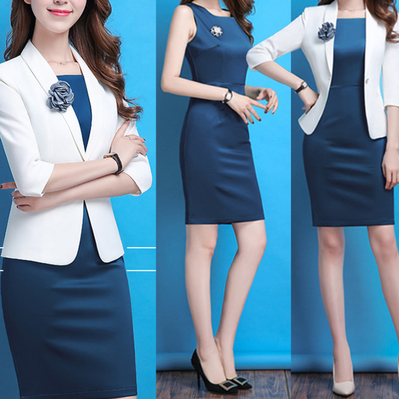 Summer Business Women Short Sleeve Veste Femme Suit Blazer Jacket Shawl Collar Elegant Office Lady White Slim Outwear Flower