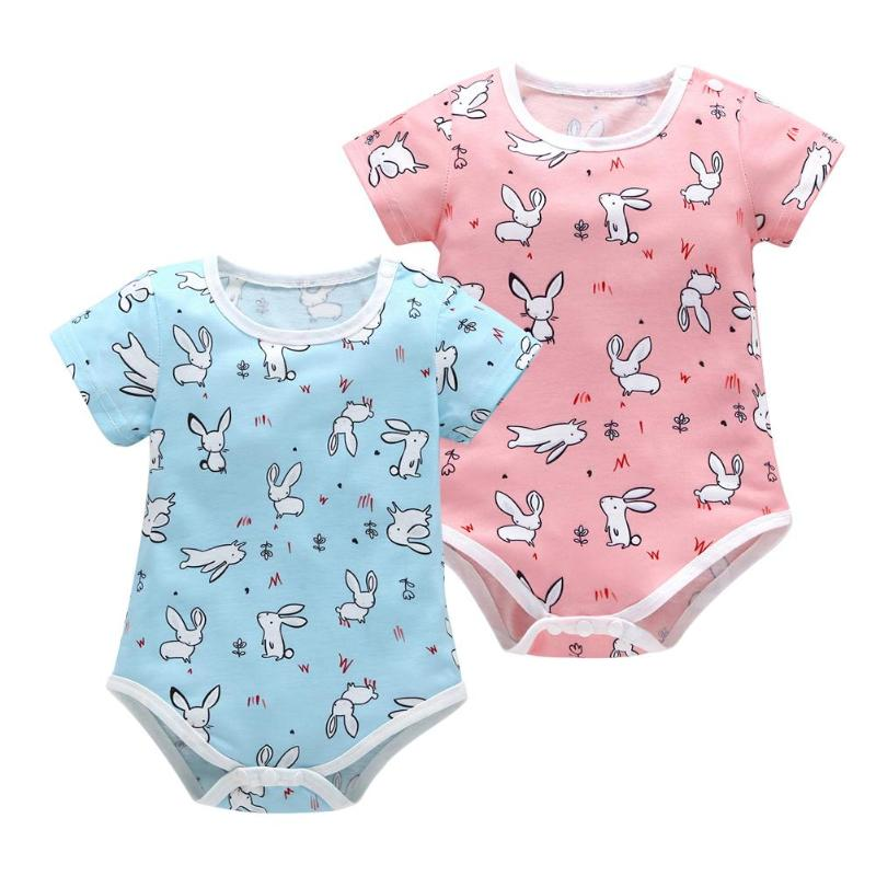 ea30f8e537c7 Newborn Baby Rompers Summer Short Sleeves Romper Infant Soft Cotton Jumpsuit  Cartoon Animal Print Jumpsuit Baby
