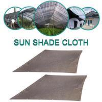 Sunblock Shade Sail Brown Curtain Net Boutique Plant Flower Core Shade Cloth PE Material High Density Durable Garden Supplies