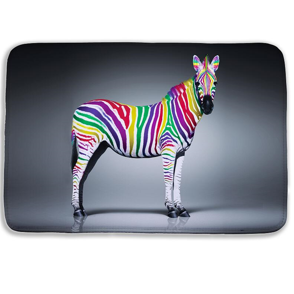 40*60cm Fashion Cartoon Animal 3D bath mat Color Zebra Lion Door Floor Mat For Living Room Bath Kitchen Carpets Bedroom Rub Mats zwbra shower curtain