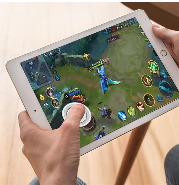 2018 סתיו החורף חדש עגול משחק ג ויסטיק נייד טלפון Rocker עבור Iphone אנדרואיד Tablet מתכת כפתור בקר עבור PUBG