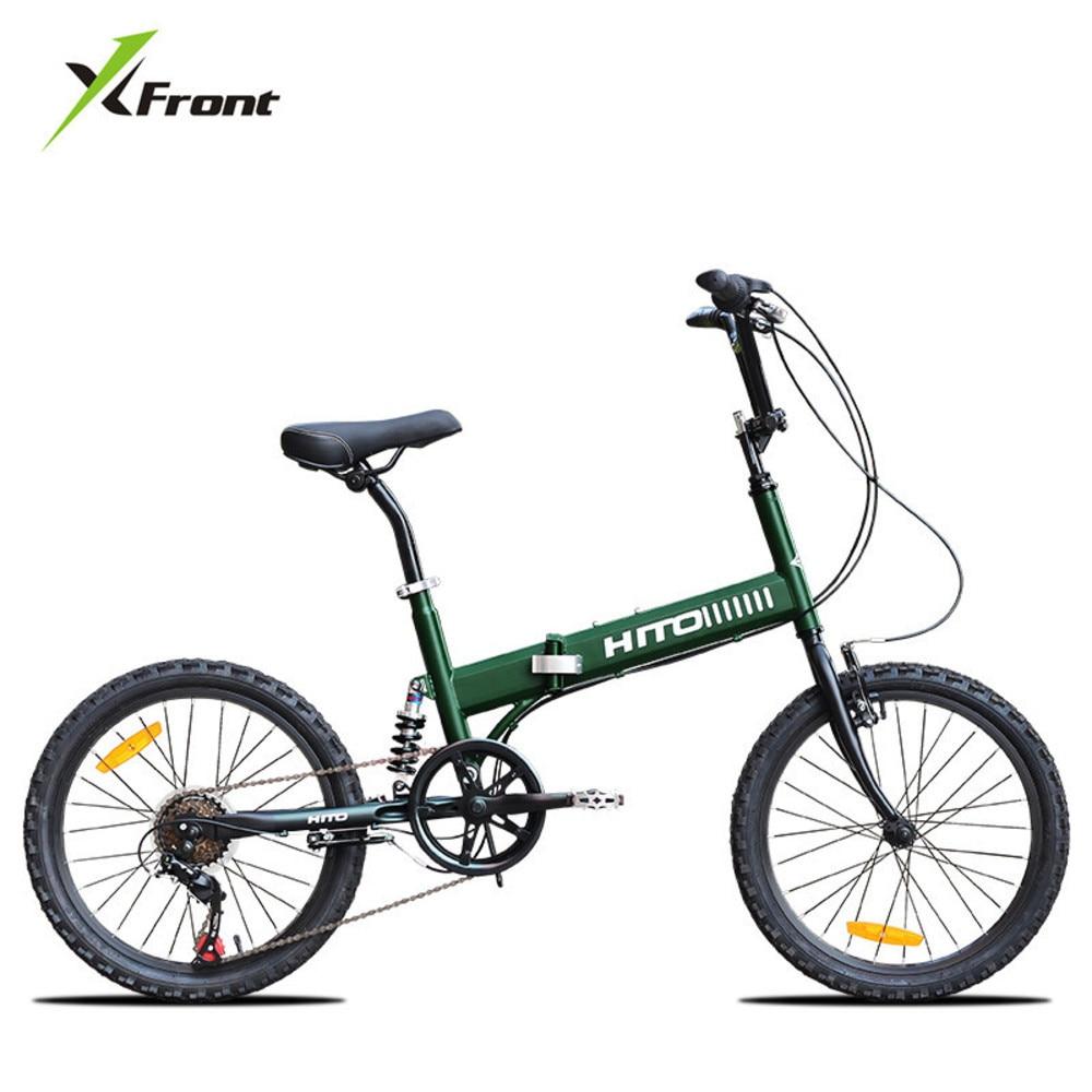 Nouvelle Marque Carbone cadre en acier 20 Pouces Roue 6 Changement de Vitesse Queue Molle Pliage Vélo Sports de Plein Air Bmx Bicicleta