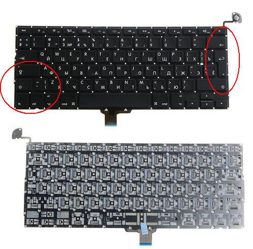 New Russian laptop Keyboard Brand NEW 13.3 RU For Macbook Pr