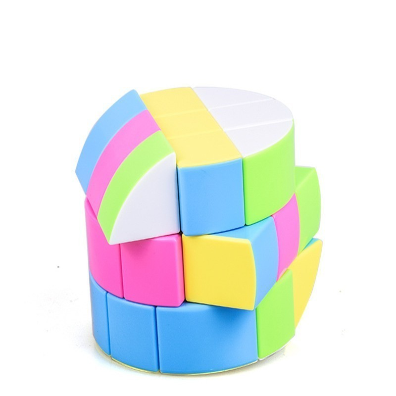 6.8cm Three Steps Magic Cubes Professional 3x3x3 Cylindrical Speed Twist Puzzle Educational Toys For Children Gift Cube Magic