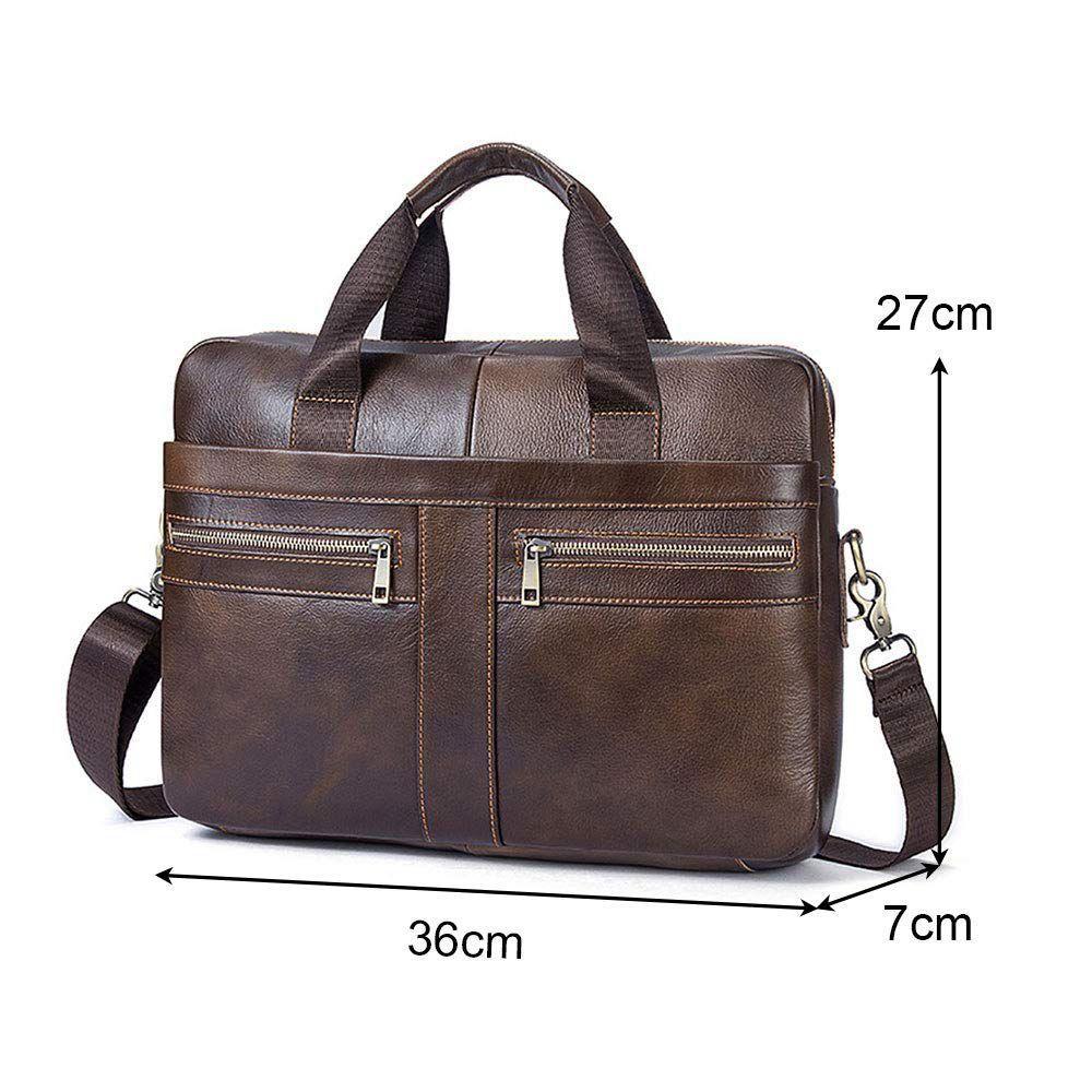 14 Inch PU Leather Handbag Briefcase Laptop Document Holder Men Business Women