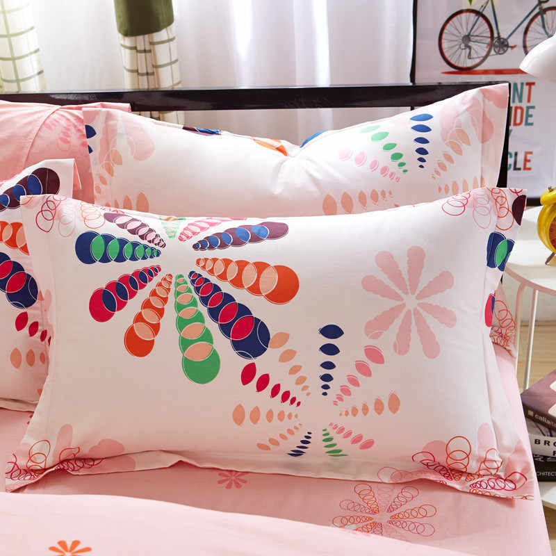 1 Piece 480*740mm 7 Colors Floral Pillow Case Cover 100% Polyester Plain Knitted Pillowcase For Kids Adults XF340-39 50