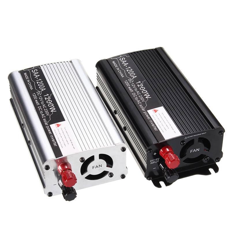 Solar Power Inverter 1200W DC 12V To AC 220V Modified Sine Wave Car Converter Power Inverters Voltage Transformer Car Converter
