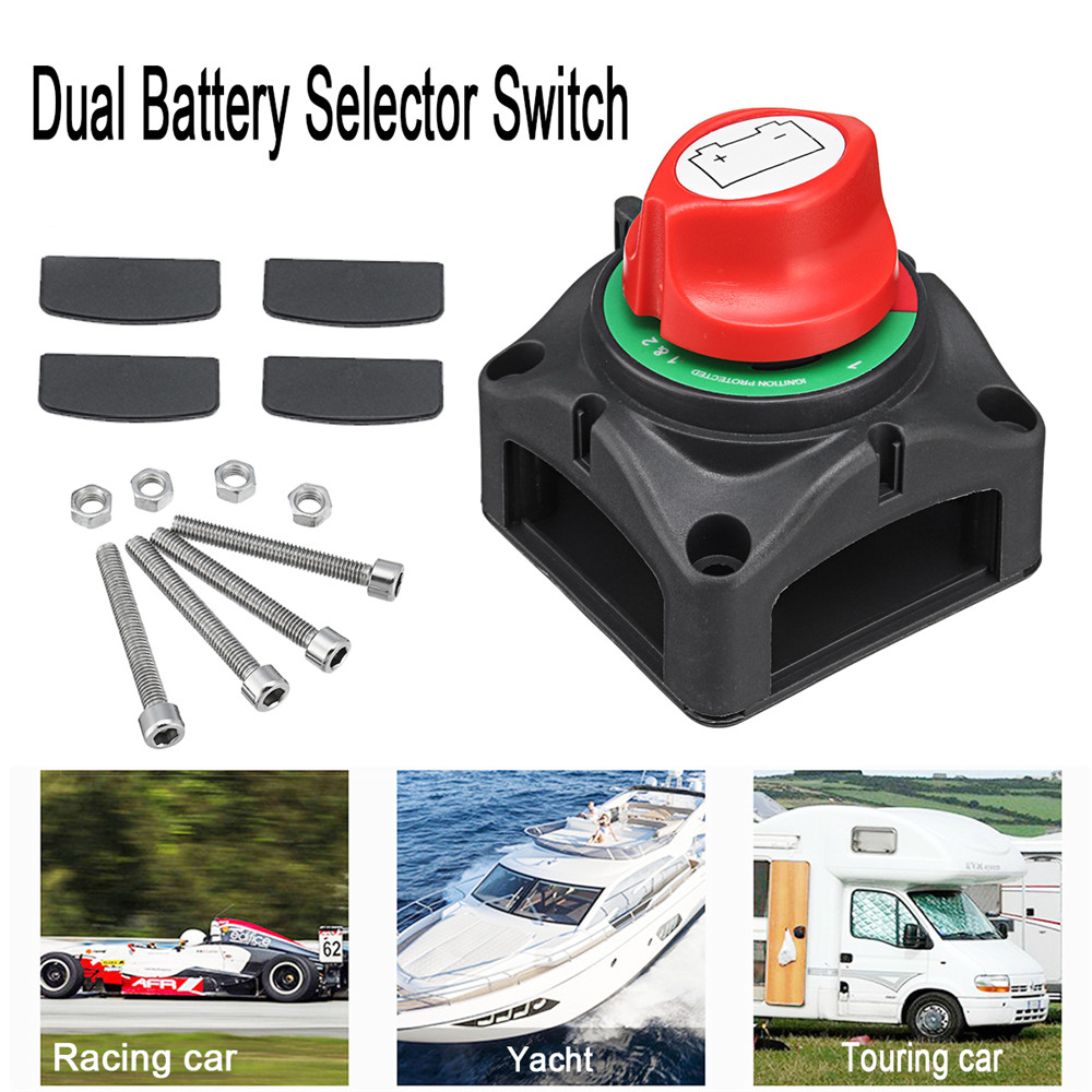 US $16 54 19% OFF|12/24V Marine Battery Switch Isolator Selector 1000A  Battery with 4pcs Baffles Screw Disconnect Cut Off Switch for Boat Yacht-in  Car