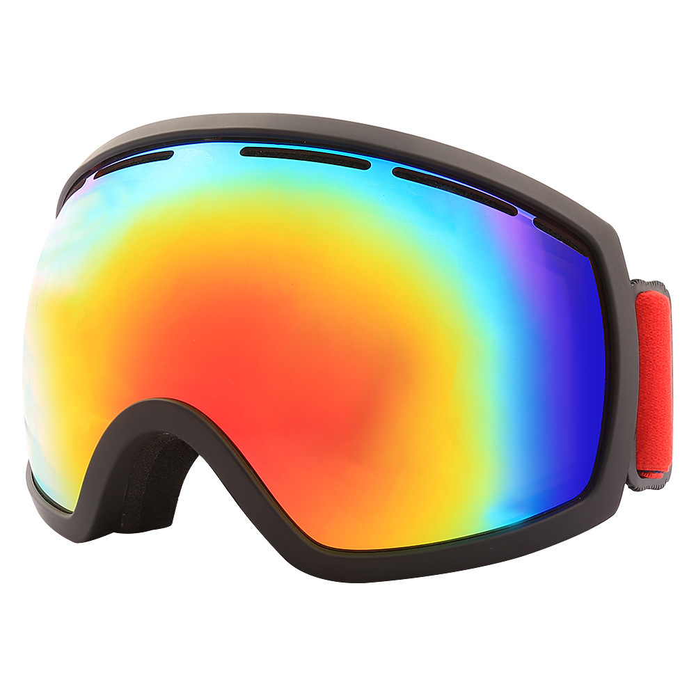 Adulte Double-couche Anti-brouillard Vélo Équitation Lunettes Pour Hommes Et Femmes Grand Sphérique Ski Lunettes Équipée Avec carte Myopie