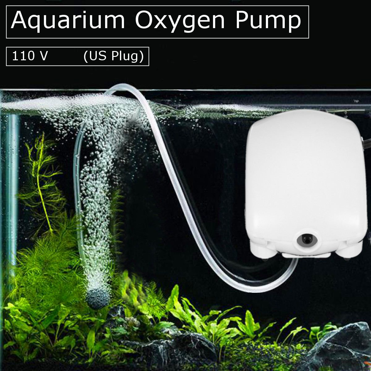 Culture Fish Oxygen Pump Mute Oxygen Pump Fish Tank Oxygen Filling Pump Small-sized Hit Oxygen Machine Aquarium Articles 390 Power Tool Accessories Tools