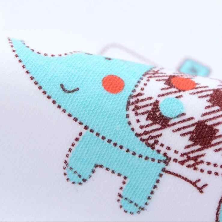 MAYA STEPAN 1 피스 코튼 만화 코끼리 걸스 베이비 턱받이 선물 타올 수유 용품 Burp Cloth Letter 방수 유아