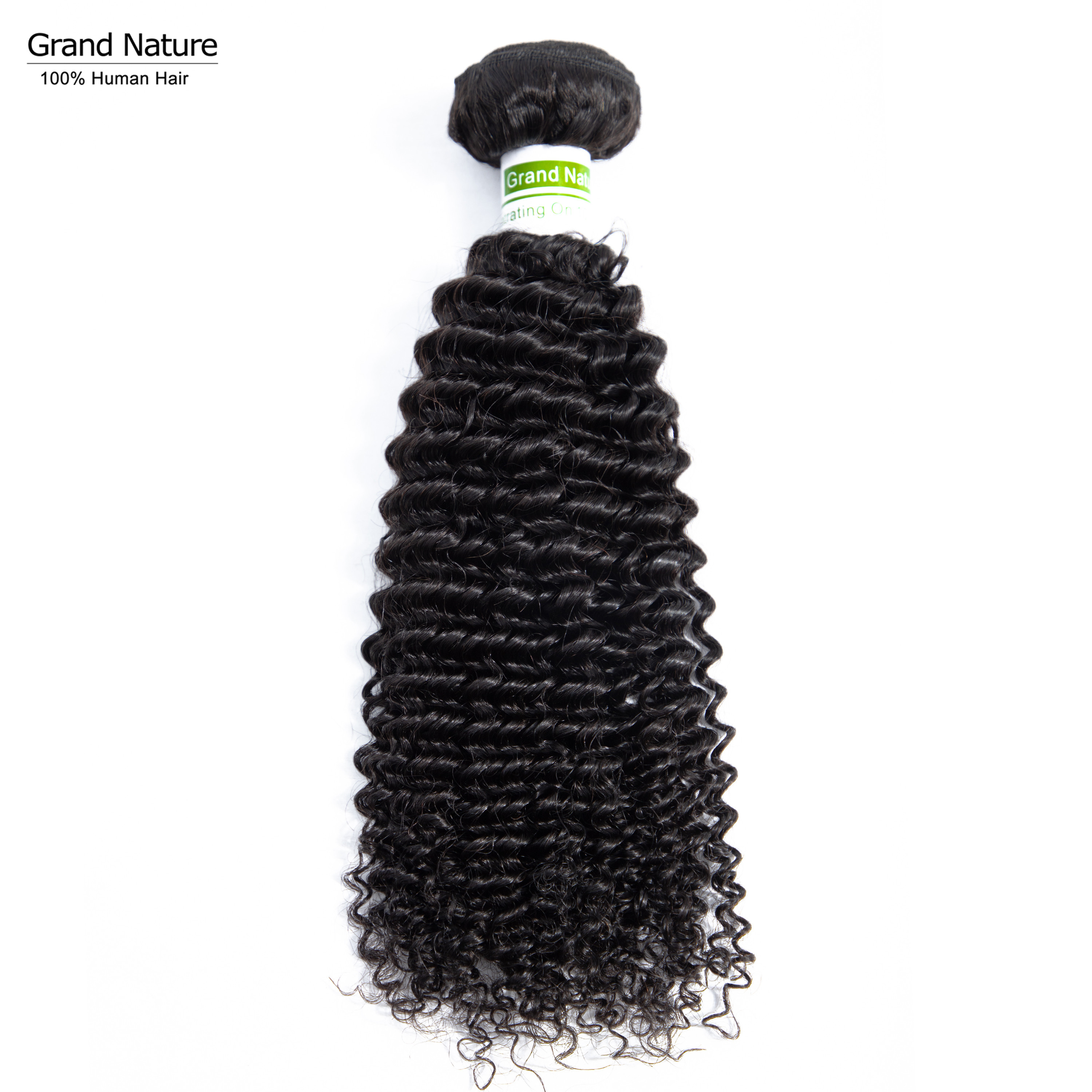 Grand Nature 100% Peruvian Virgin Hair Weaves 100% Afro Curly Human Hair One Bundle Kinky Curly One Donor Can Be Dyed