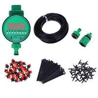 AFBC 25M Mini Drip Irrigation System Plant Automatic Spray Greenhouse Watering Kits Garden Hose Adjustable Dripper Sprinkler