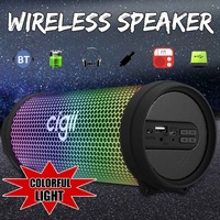 Portable Wireless bluetooth Speaker Surround Sound Stereo Loudspeaker Music Player USB AUX FM Radio for PC Outdoor Speakers