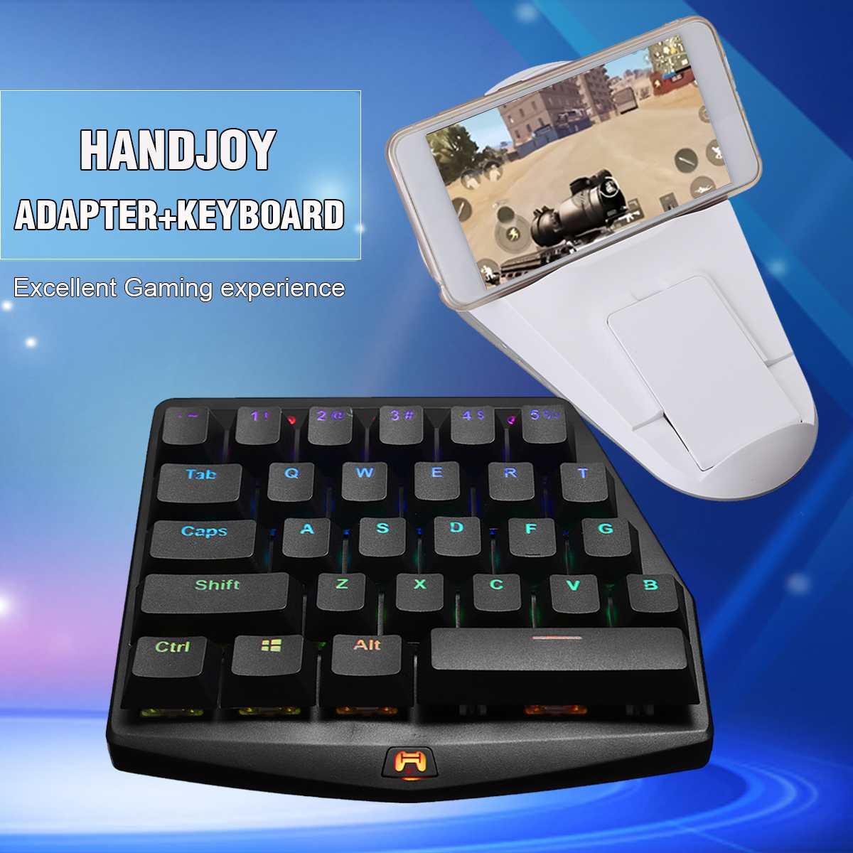 Handjoy Kmax adaptateur Dock de jeu + clavier bluetooth 4.0 adaptateur de téléphone + FBT 28 touches clavier RGB-pour téléphone portable et manette