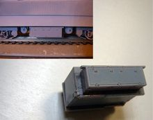 Train Scale Model 1:87 HO railway accessories with materials DIY Locomotive chassis box ho scale model railway 1 87 scale train riders standard track roller test stand with 6 trolleys train treadmill track bearing