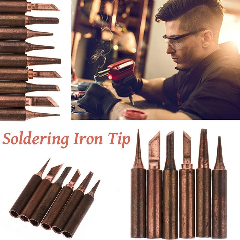 936 Soldering Iron Tip Pure Red Copper 900M-T-K B D I Pure Copper Soldering Bit Soldering Tip Soldering Stations