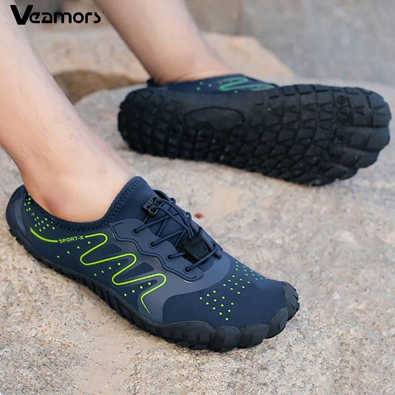 VEAMORS Outdoor Hiking Shoes Trekking Sneakers For Men Women Durable Nonslip Beach Wading Shoes Lover Light Water Sport Sneakers
