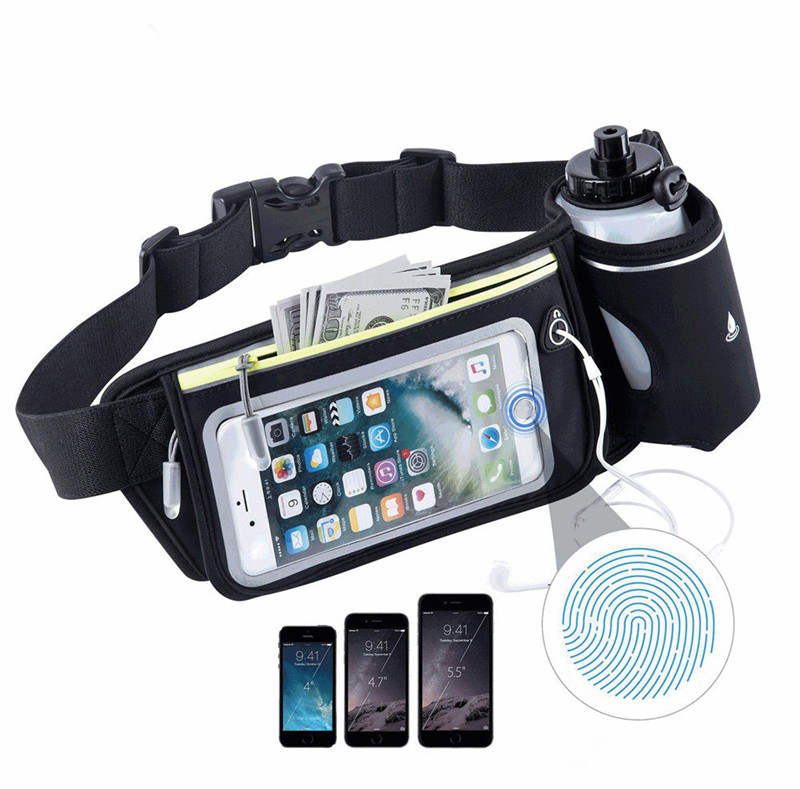Cellphones & Telecommunications Skillful Knitting And Elegant Design Gym Running Belt Jogging Cycling Waist Pack Pouch Sports Bags 300ml Water Bottles To Be Renowned Both At Home And Abroad For Exquisite Workmanship