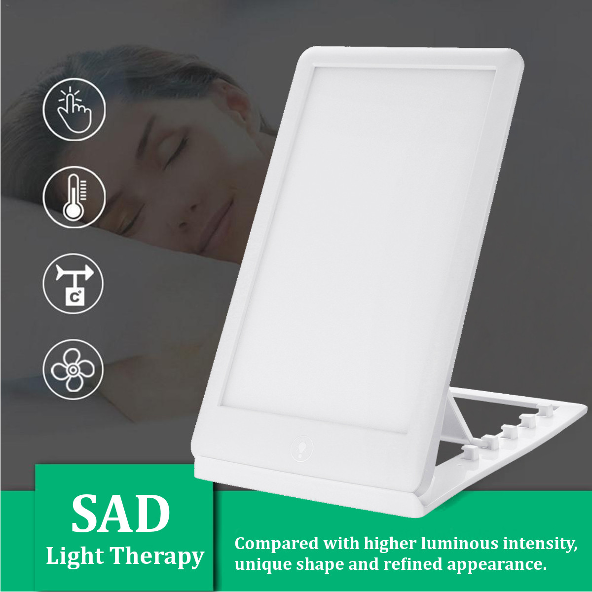 3 Modes 11000 Lux Sunlight SAD Light Therapy Improve Mood Healing Wellness Lamp Natural Daylight SAD Therapy Lamp Lighting New