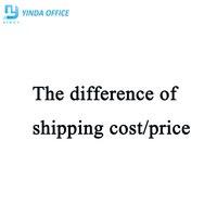 Het verschil van verzendkosten/prijs