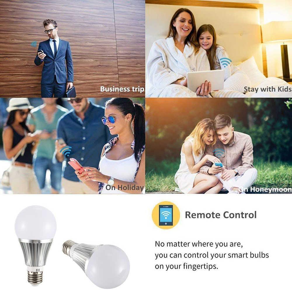 18 Вт смарт-лампочка WiFi Супер яркий светодиодный светильник мобильное приложение дистанционное управление Музыка Аудио работа с Amazon/Google E27/E26/B22