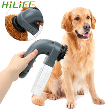 HILIFE Cat Dog Deshedding Clipper Cat Dog Animals Hair Comb Portable Electric Suction Device Pet Grooming Vacuum Fur Cleaner professional high power pet electric clipper cat and dog shaving device teddy long hair rabbit special shearing device