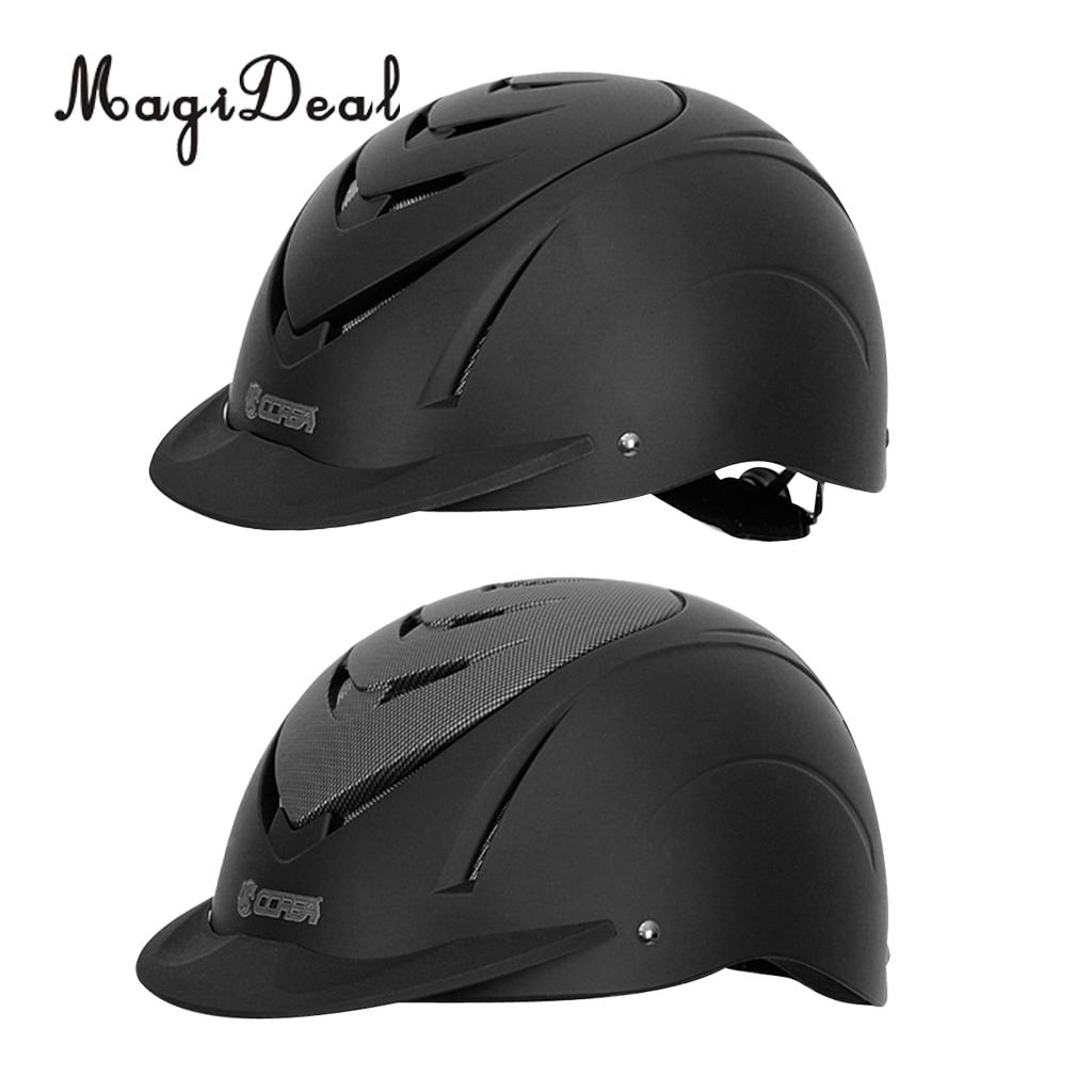 Perfeclan Horse Riding Safety Helmet Children Equestrian Head Protector Hat with Adjustable Strap Outdoor Sports Tool safety horse riding helmet for riding horse helmet portable equestrian helmet 53 64cm