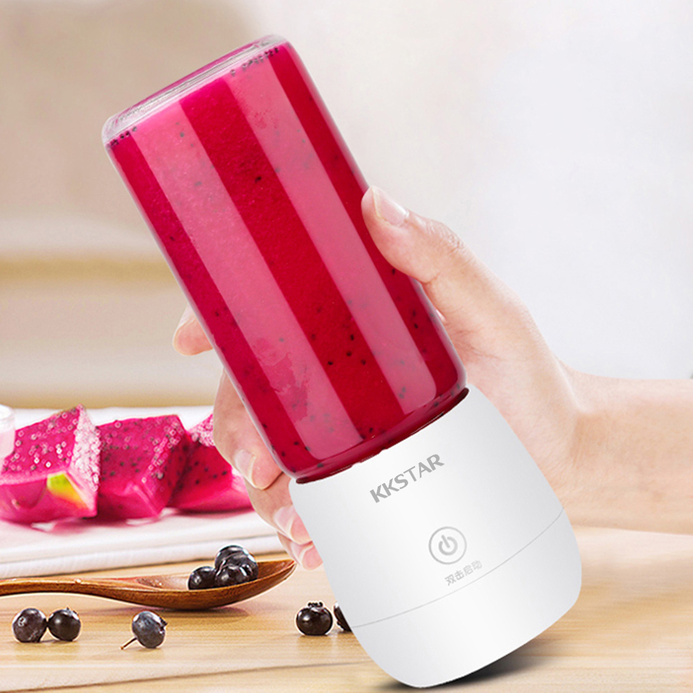 Portable Juicer Blender-Machine Ice-Smoothie-Maker Electric Mixer Fruit 450ml Blade Six-Leaf