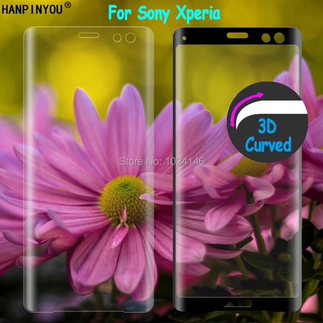 สำหรับ Sony Xperia X XA XA1 XA2 Ultra XZ XZS XZ1 XZ2 XZ3 C6 Premium 9H 3D โค้งเต็มรูปแบบฝาครอบกระจกนิรภัยฟิล์ม Protector