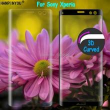 עבור Sony Xperia X XA XA1 XA2 Ultra XZ XZS XZ1 XZ2 XZ3 C6 פרימיום 9H 3D מעוקל מלא כיסוי מזג זכוכית סרט מסך מגן