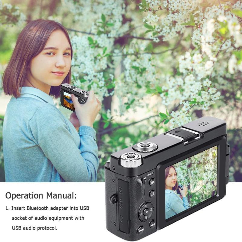 Профессиональная цифровая камера 3,0 дюйма lcd 24 миллионов HD Цифровая видеокамера с откидной крышкой камера 16X зум Камера Sup wifi 128G SD - 5