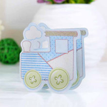 12pcs Wedding Paper Candy Box Train Head Shape Gift Treats Goodies Boxes Party Supplies(China)