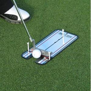Spiegel Golf Accessoires Golf Training Aids Swing Trainer Rechte Praktijk Netto Putting Mat Alignment Swing Trainer Eye Lijn(China)