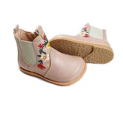 Модные ботинки для девочек из натуральной кожи с вышивкой, Детские Ботинки martin, обувь принцессы для вечерние, детские непромокаемые ботинки