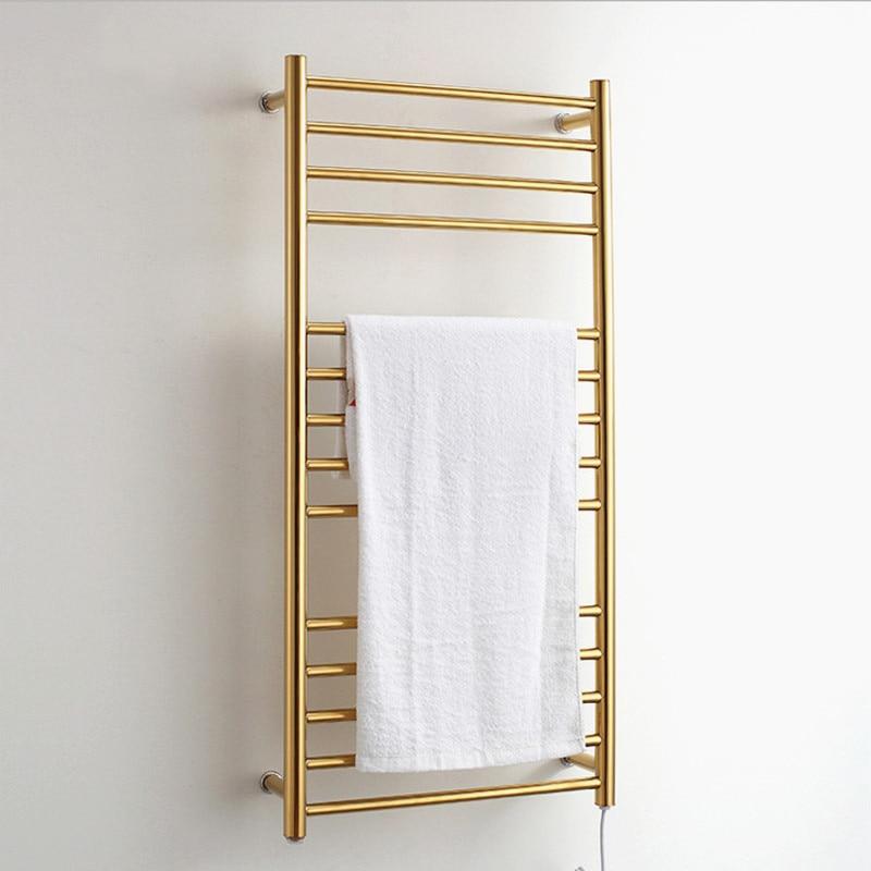 wall mounted 304 stainless steel waterproof Electric towel rack AC220 240V 50Hz 162W heating Electric bathroom