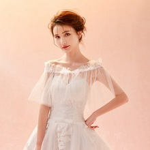 Bride wedding lace tulle shawl, spring and summer new style cover arm shawl