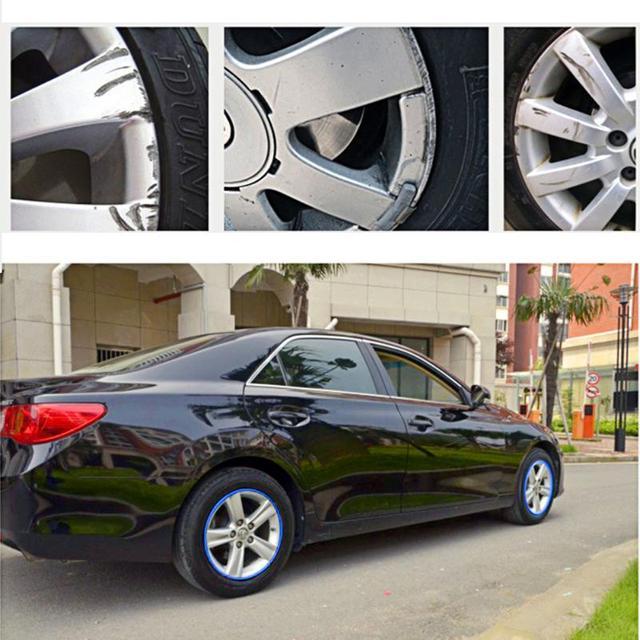 8m Car Wheel Protector Hub Sticker Car Decorative Strip Auto Rim/Tire Protection Care Covers Drop Ship Car-styling