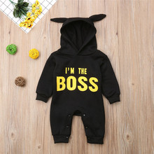 Autumn Winter Newborn baby clothes infant baby boy Rompers Cotton Long  Sleeve mini boss Hooded kids Jumpsuits 2d195a8882d