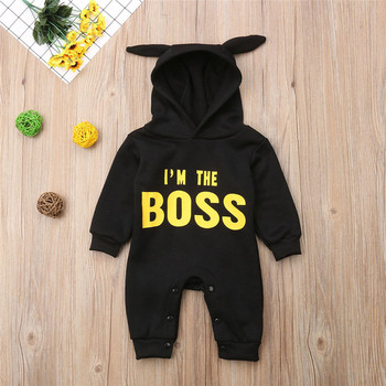 Autumn&Winter Newborn baby clothes infant baby boy Rompers Cotton Long Sleeve mini boss Hooded kids Jumpsuits yierying newborn jumpsuits winter long sleeve lovely hooded infant clothing cotton thickening warm cartoon printed baby rompers