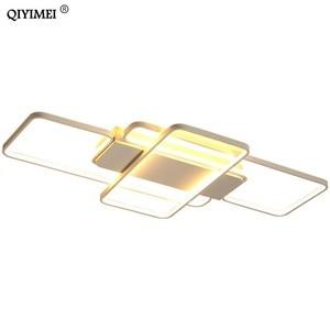 Image 5 - 디밍 LED 천장 조명 게시물 현대 스타일 거실 연구실 장식 전등 갓 천장 조명 lamparas de techo